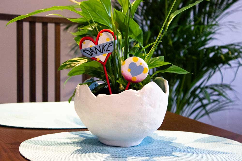 Blumentopf aus Knetbeton